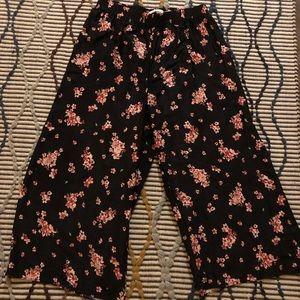 Wide Leg Silk Pants